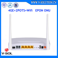 4FE+2POTS+WiFi FTTH GEPON ONU similar HUAWEI ONU HG8245 RJ45 wireless router