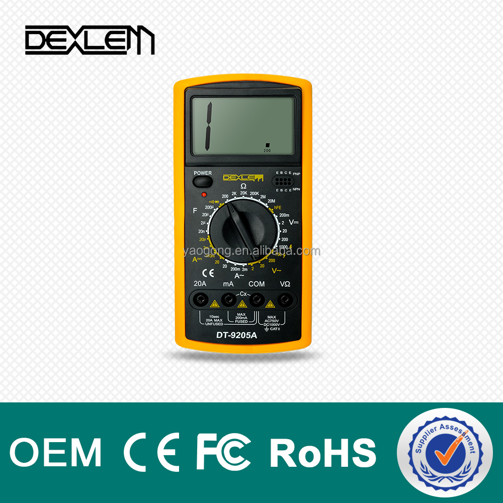 DELE DT9205A Low price and High Quality digital display multimeter
