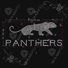 Panthers Rhinestone Transfer templates strass Design