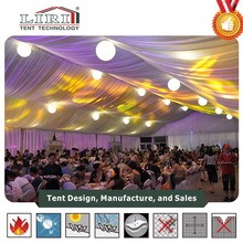 Luxury decoration lining indoor for wedding tent