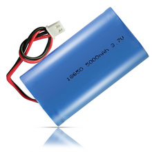 Customized 18650 li-ion battery pack 5000mah 3.7v with pcb & plug wires battery cell