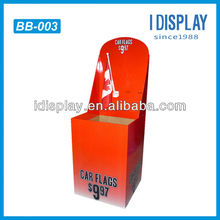 Cardboard free standing ballot box for car flags Dump Bin Display
