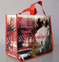 custom reusable fashionable non woven die cut bag for supermarket