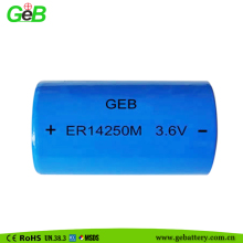 non-rechargeable lithium ion battery 3.6v lithium battery 1/2aa er14250