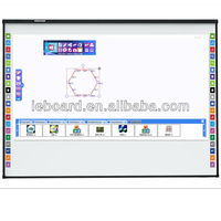 Optical interactive whiteboard,education supplies,smart board,support finger touch,dual-users