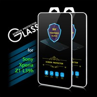 2016 New Arrival 9H 0.3mm 2.5D Premium Tempered Glass Screen Protector Film for Sony Xperia Z1 L39h