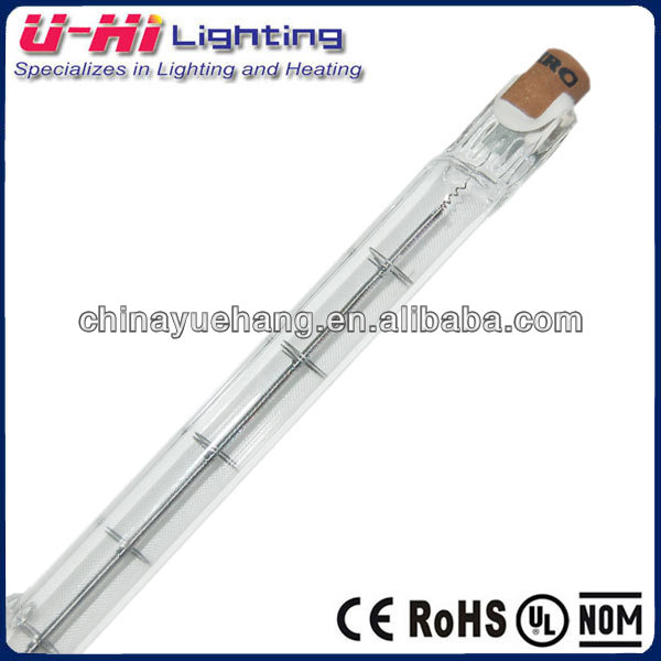J standard double-ended linear halogen tungsten lamp 1000w 125mm video lamp