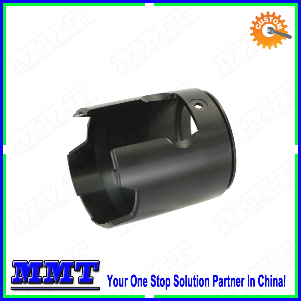 black anodized turn milled aluminum thin wall parts for Battery electric vehicle