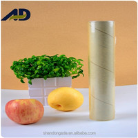Plastic food wrapping roll film for food packaging