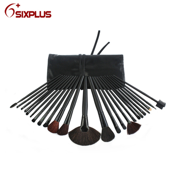 New 24 piece pro black handle professional cosmetic brush/make up brush/makeup brushes