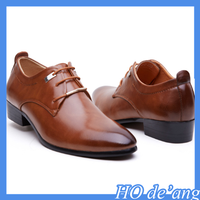 2016 Spring men's shoes black lace-up men's business casual leather shoes MHo-247