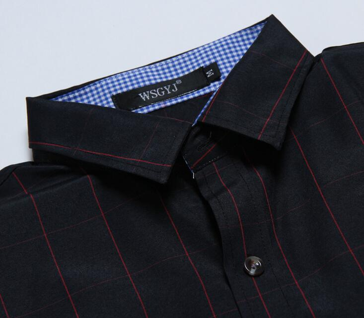 Sell in Aliexpress or Ebay long sleeve casual checks pattern men's shirts wear in Spring and Autumn