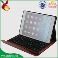 Flip cover wireless bluetooth keyboard tablet leather case for ipad mini