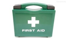 PP home emergency survival kit, plastic first aid kit box with handle