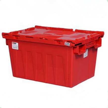 2016 HOT sale nestable storage moving plastic crate with lid