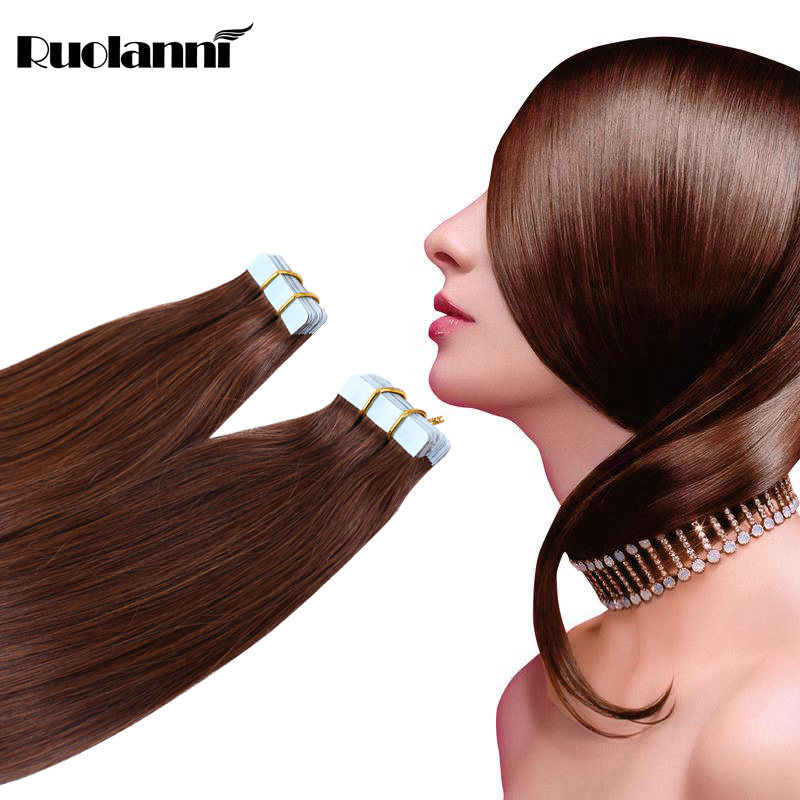 Large Stocks Cuticle Intact Indian Human tape Hair For Black Women