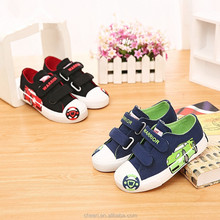 cute cartoon print hot latest design child canvas fashion boys stylish casual kid shoe/shoes for boy