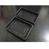 Microwaveable Blister Plastic Black PP Food Tray