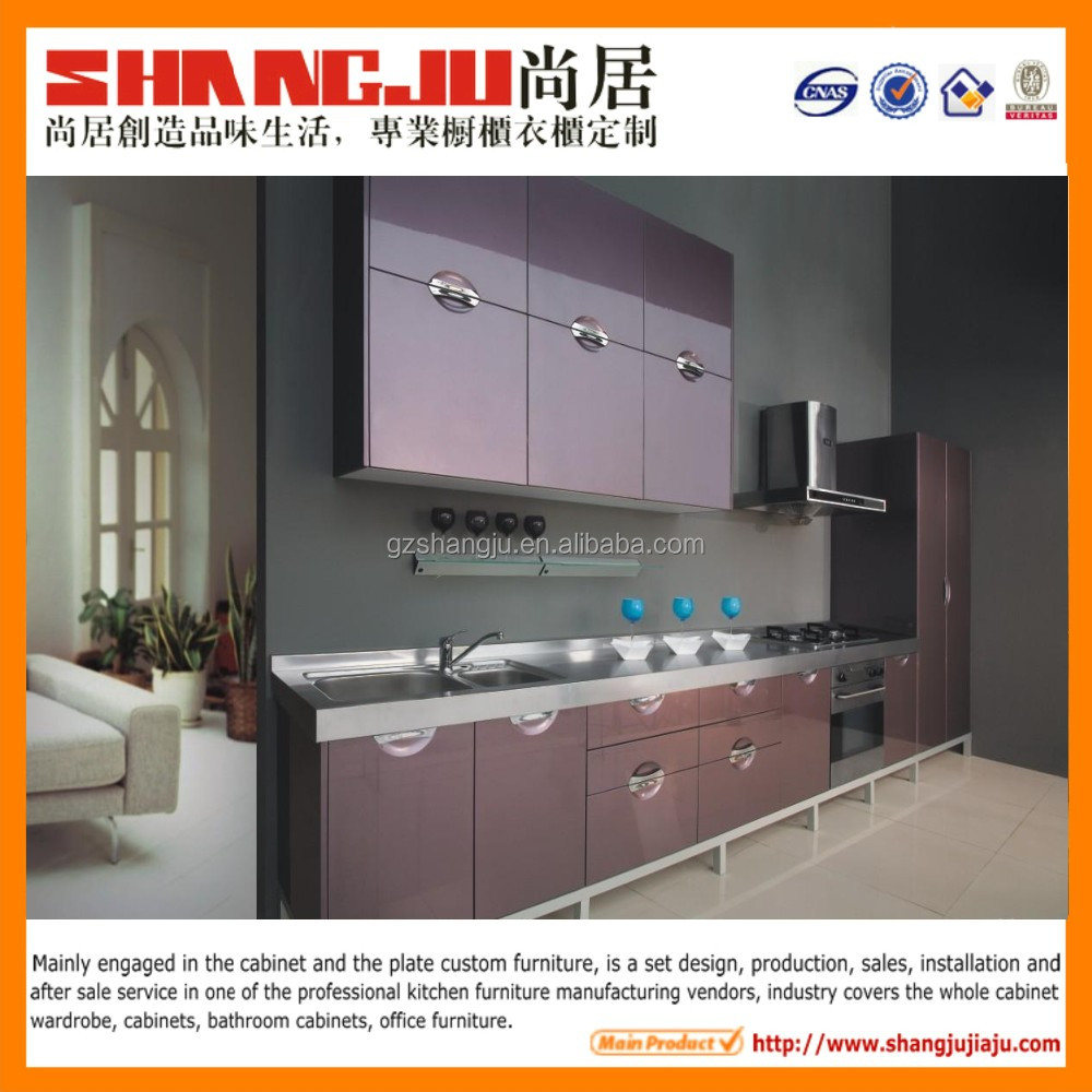 vinyl raps kitchen cabinet China kitchen cabinet factory