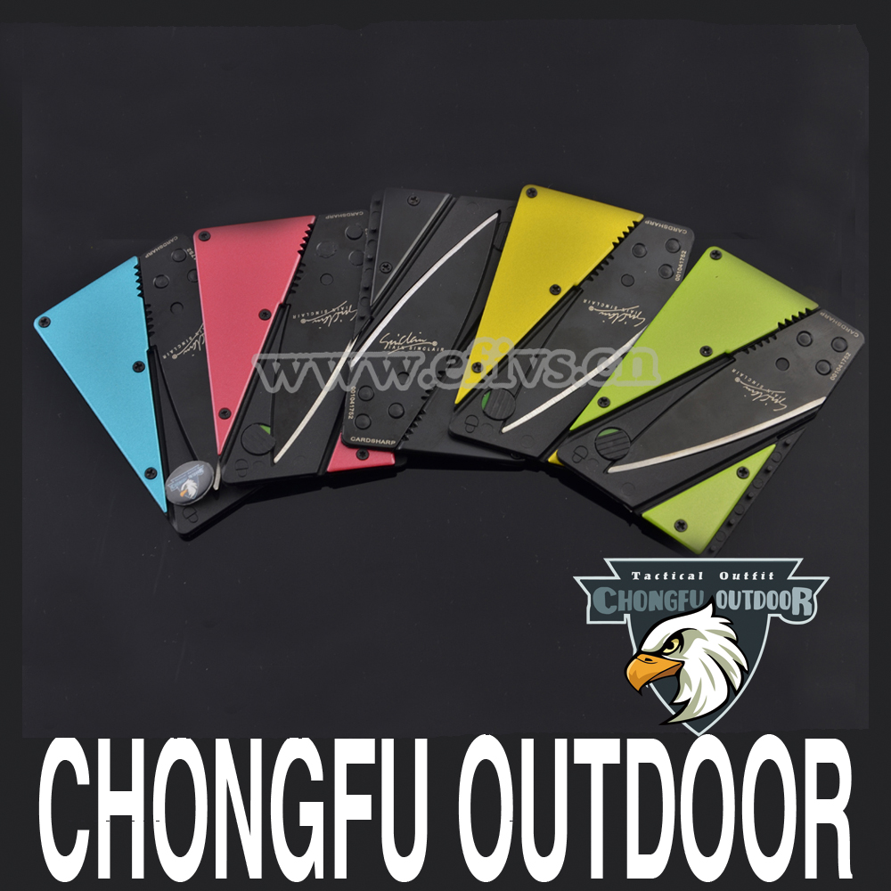 WHOLESALE multi functional essential credit card knife for camping equipment and survival kit