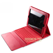 2015 bestseller pu leather wireless bluetooth keyboard case for iPad 4