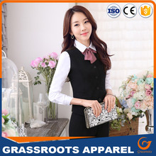 Sex female bank office uniform design OEM custom formal bank uniform design