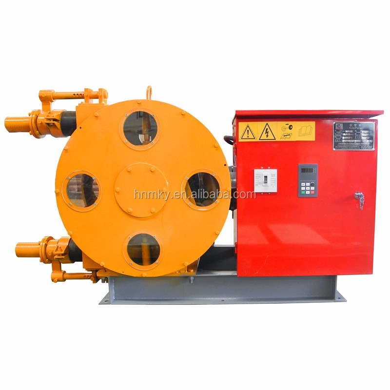 Squeeze Mortar Pump Variable Frequency Motor Industrial Hose Pump
