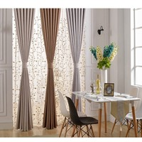 Solid thermal linen curtain drapery collection window linen curtain for home decor