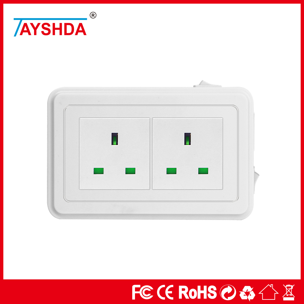 Wholesale 10A Electrical 3 Flat Pin Adaptor Plug Perfect For Travel