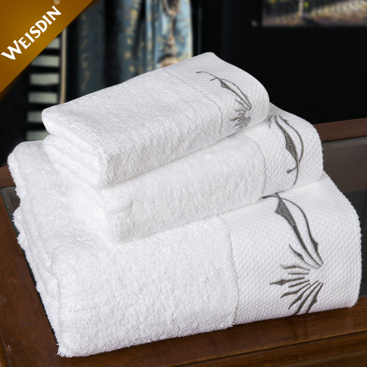 Wholesale customize logo 16S high thread count cotton turkish towel 70x140 white