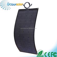 100w poly flexible solar panel made with monocrystalline silicon cells for marine
