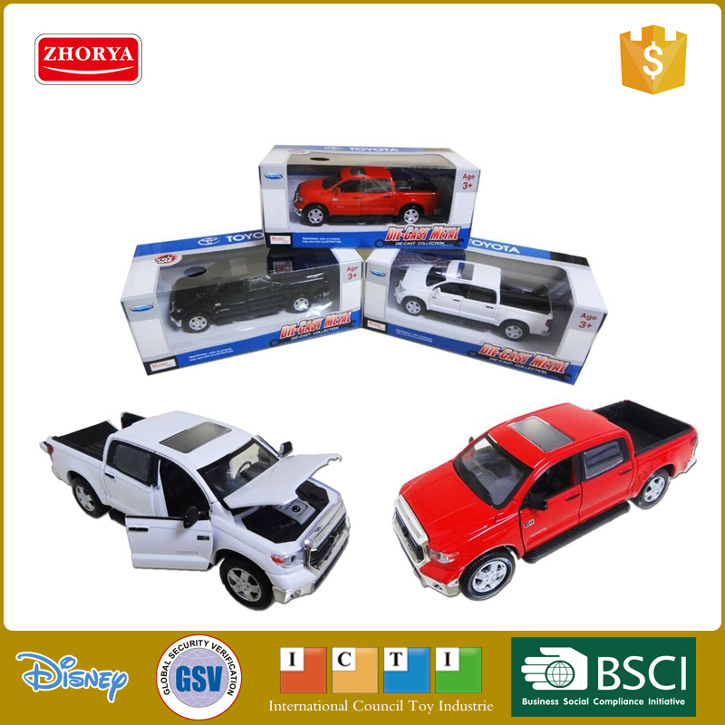 HQ Diecast vehicle Toyota's authorization 3 colours toyota car 1/34 Tundra pickup metal model car