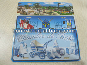 printing souvenir aluminum embossed metal business postcard