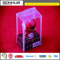 2014 promotional high transparent soft crease elegant portable hang robot plastic toy box