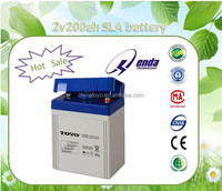 MF 2v200ah sealed lead acid battery float charge battery for power transmission and transformer station