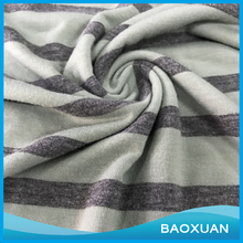 100% cotton double side yarn dyed stripe interlock fabric textile