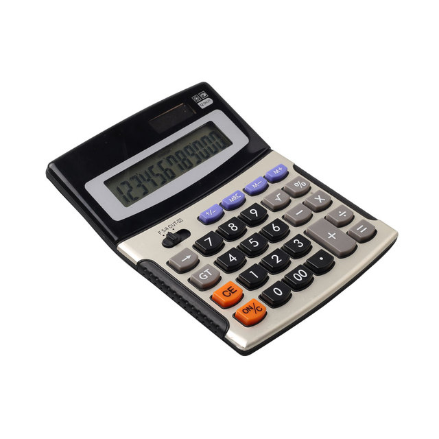 12 Digit Office Desktop Solar Powered Fraction Calculator for Math