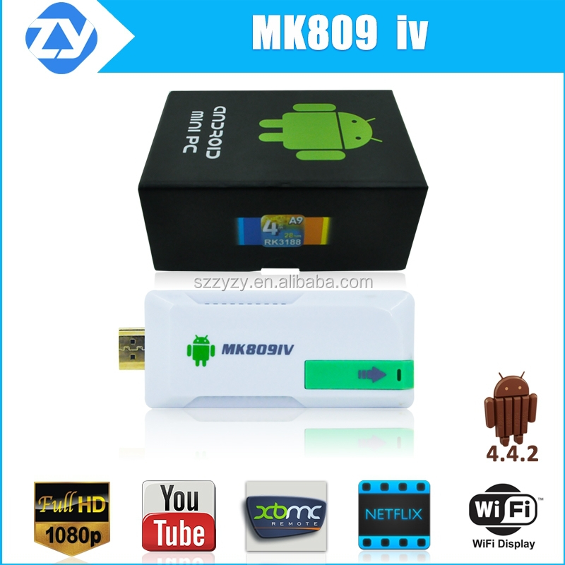 MK809 IV Quad Core TV dongle Google smart ott tv box Android 4.4 RK3188t 2GB /8GB WIFI 1080P media player