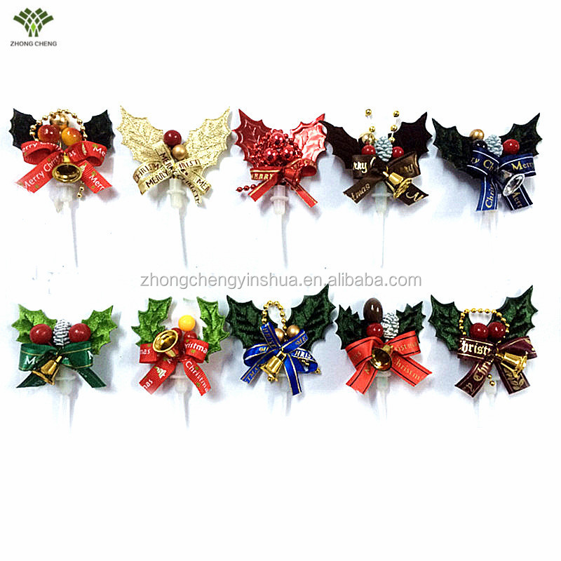 Christmas Cupcake Picks Plastic Christmas Cake Topper Christmas Cake Decoration Party Supplies