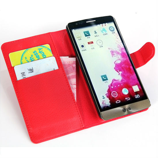 Hot Selling Senior Wallet Leather Case for LG G3 mini Leather Pouch