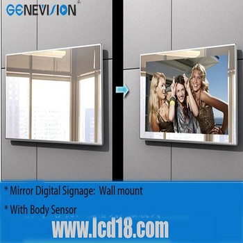 32 inch magic mirror ad screen for advertising