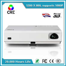 RGB 3led 3lcd projetor de led projector,1080p perfect effect usb tablet pc av multimedia led projector