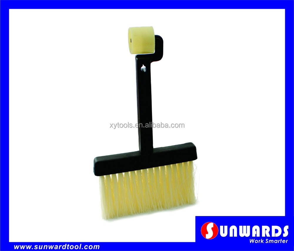 Plastic Handle Wallcovering Paste Brush, with Seam Roller End