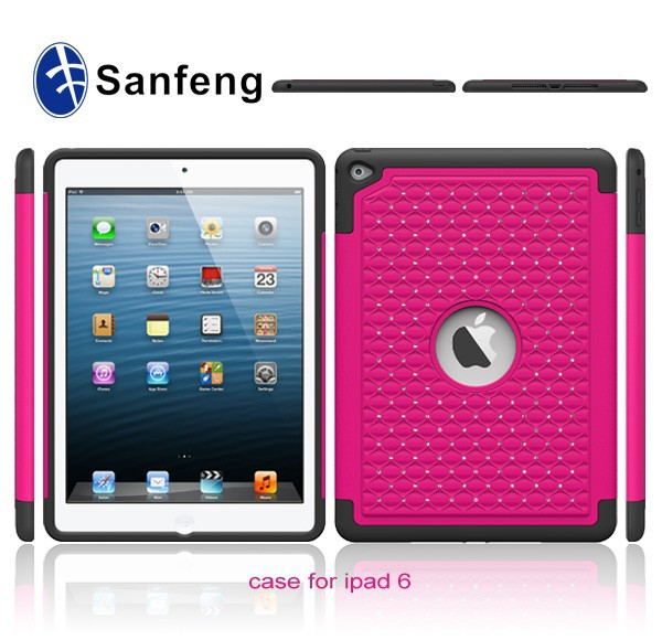100% High Quality Rubber Skin Protector Cover for iPad Air 2