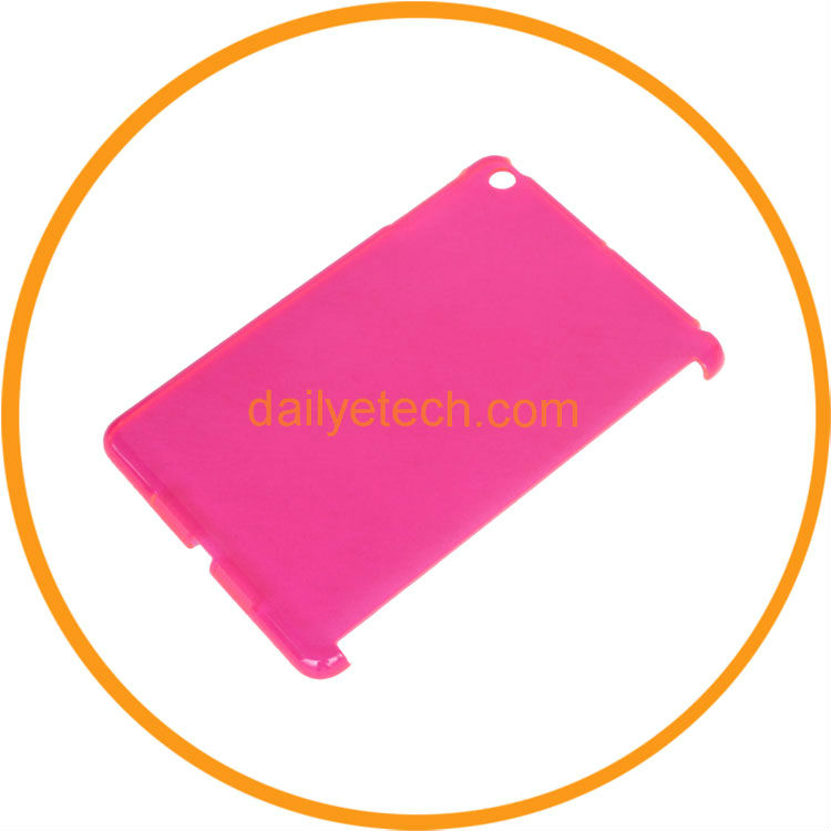 For iPad mini Clear Back Smart Cover Case pink from dailyetech