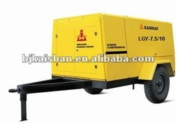 KAISHAN Brand Mining LGY-7.5/10 High efficiency and energy saving Motor driven portable screw air compressor