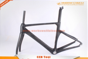 2016 new special design aero road racing bicycle carbon frame