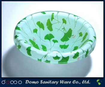 Domo glass bathroom bowl small size bowl
