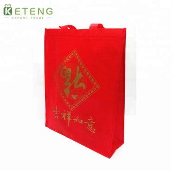 Recycle Supermarket Promotional Accurate Printing Non Woven Wine Bag With Custom Logo