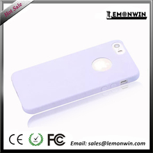 Shockproof protective purple cheap TPU mobile case for iphone 5/5s